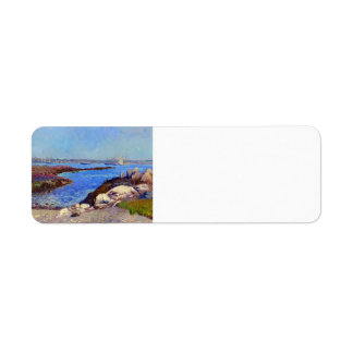 William Glackens- Portsmouth Harbor, New Hampshire Return Address Label