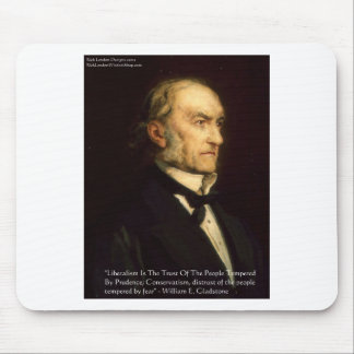 """William Gladstone """"Liberals & Conservative"""" Gifts Mousepads"""