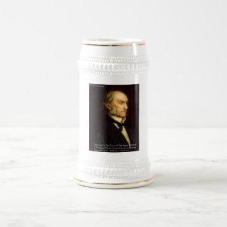 """William Gladstone """"Liberals & Conservative"""" Gifts 18 Oz Beer Stein"""