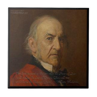 William Gladstone & Power Of Love Quote Ceramic Tile