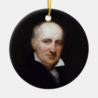 William Godwin by Henry William Pickersgill Double-Sided Ceramic Round Christmas Ornament