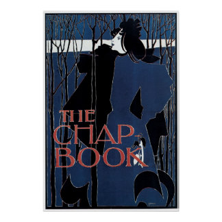William H Bradley The Chap Book Lady In Blue Poster