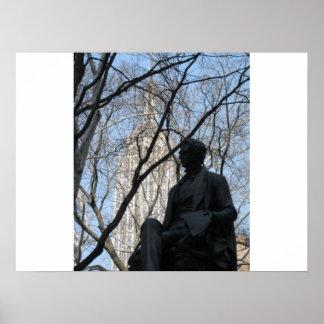 William H. Seward , Statue Poster