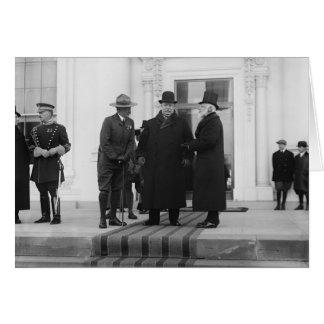 William H. Taft, James Bryce & Archibald W. Butt Card