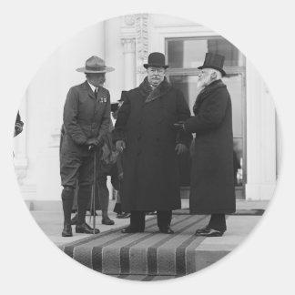William H. Taft, James Bryce & Archibald W. Butt Classic Round Sticker
