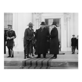 William H. Taft, James Bryce & Archibald W. Butt Postcard