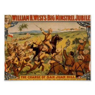 William H. West, 'The Charge of San Juan Hill' Poster