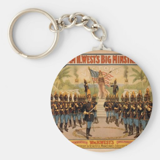 William H. West, 'The March of Victory' Vintage Th Basic Round Button Keychain