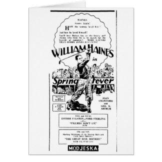 William Haines Spring Fever 1927 Cards