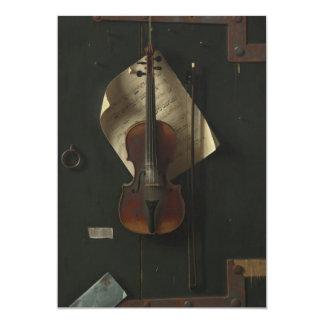 """William Harnett The Old Violin 5"""" X 7"""" Invitation Card"""