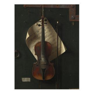 William Harnett The Old Violin Postcard
