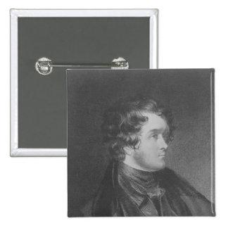 William Harrison Ainsworth Pinback Button