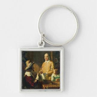 William Harvey  demonstrating to Charles I Keychain