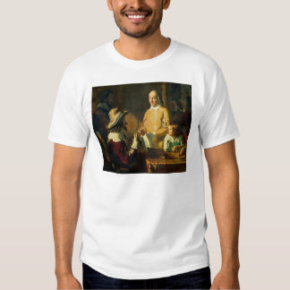 William Harvey  demonstrating to Charles I T-Shirt