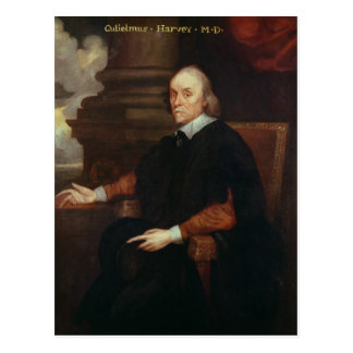 William Harvey  Royal physician, 17th century Postcard