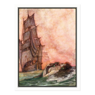 William Heath Robinson - Vintage Ship Art Postcard