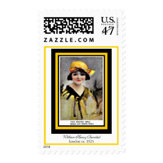 William Henry Barribal Edward Girl with Yellow Hat Postage