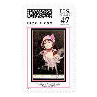 William Henry Barribal Edward Woman with Pink Hat Postage