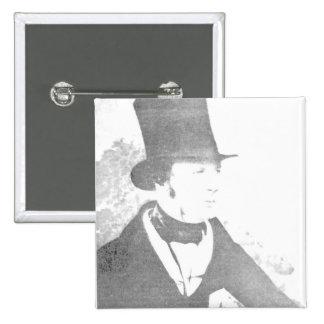 William Henry Fox Talbot  1844 2 Inch Square Button