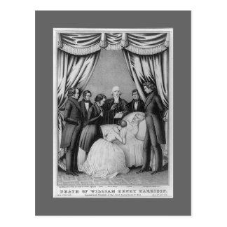 William Henry Harrison death bed Postcard