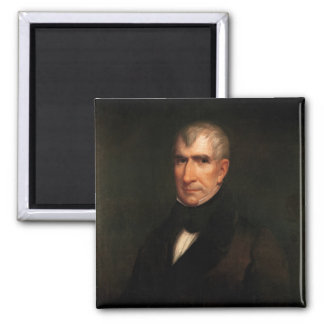 William Henry Harrison 2 Inch Square Magnet