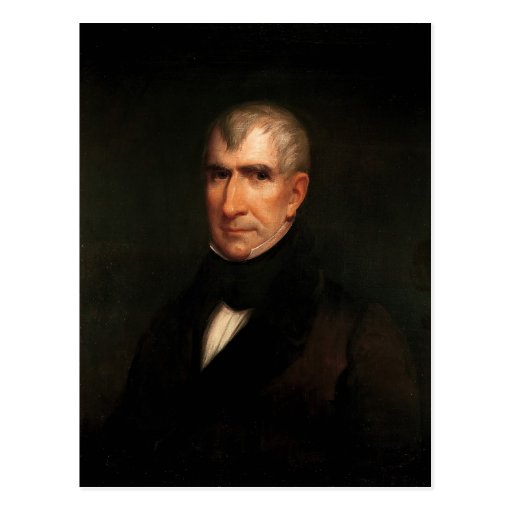 William Henry Harrison Post Card
