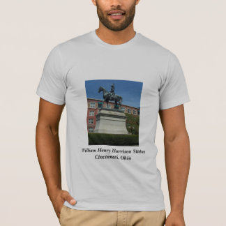 William Henry Harrison statue t-shirt