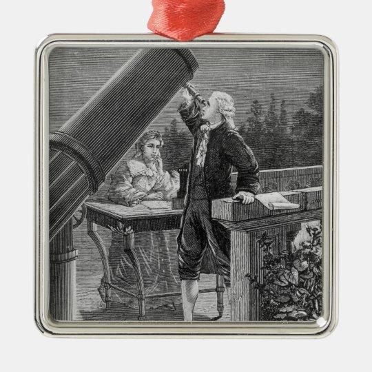 William Herschel  Discovers the Planet Uranus Metal Ornament