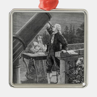 William Herschel  Discovers the Planet Uranus Christmas Ornaments