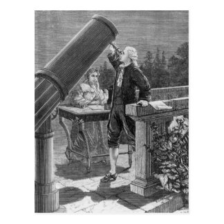 William Herschel  Discovers the Planet Uranus Postcard