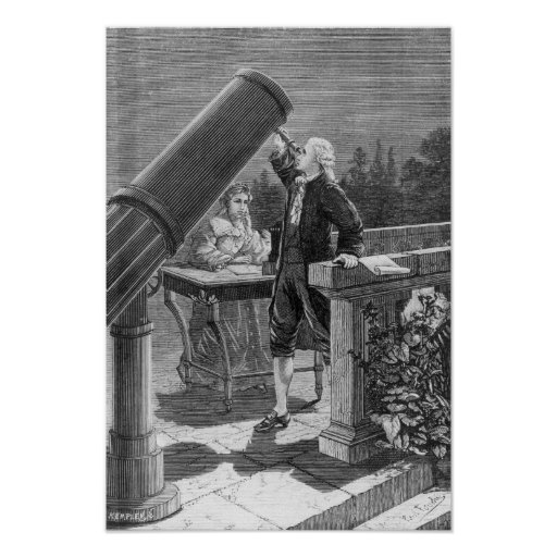 William Herschel  Discovers the Planet Uranus Poster