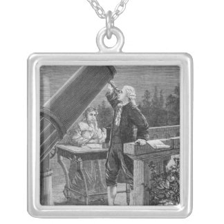 William Herschel  Discovers the Planet Uranus Silver Plated Necklace