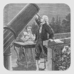 William Herschel  Discovers the Planet Uranus Square Sticker