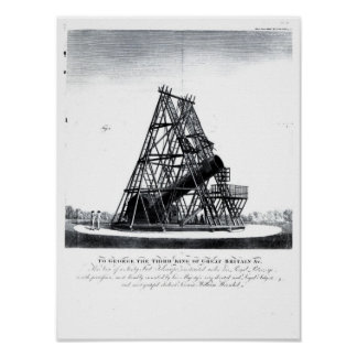 William Herschel's Forty Foot Telescope Poster
