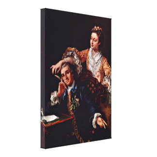William Hogarth - David Garrick and his wife Canvas Print