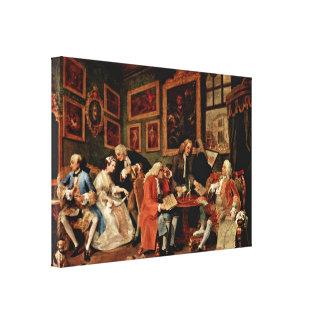 William Hogarth - el contrato de boda Impresión En Lona