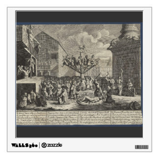William Hogarth- Emblematical print of South Sea Wall Decal