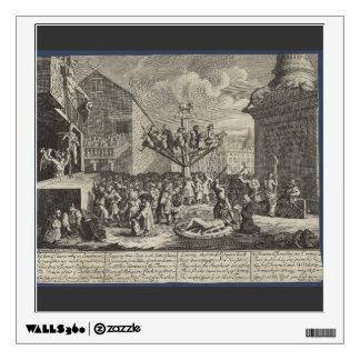 William Hogarth- Emblematical print of South Sea Wall Skins