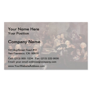 William Hogarth-Rake's Progress' The Gaming House Business Card