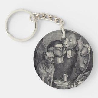 William Hogarth- The Bruiser Charles Churchill Acrylic Key Chains