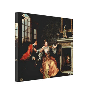 William Hogarth - The Ladys Last Stake Stretched Canvas Print