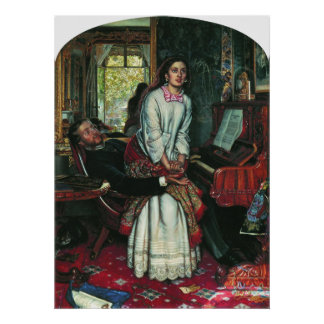 William Holman Hunt Awakening Conscience Poster