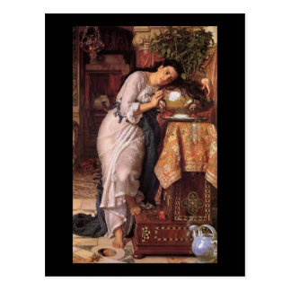 William Holman Hunt Isabella and the Pot of Basil Postcard