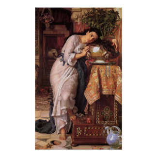 William Holman Hunt Isabella and the Pot of Basil Poster