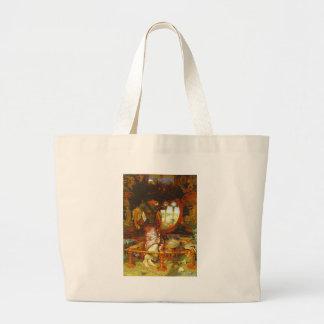William Holman Hunt The Lady of Shalott Large Tote Bag