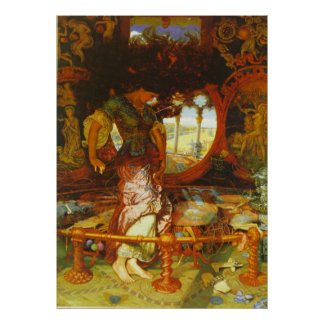 William Holman Hunt The Lady of Shalott Poster
