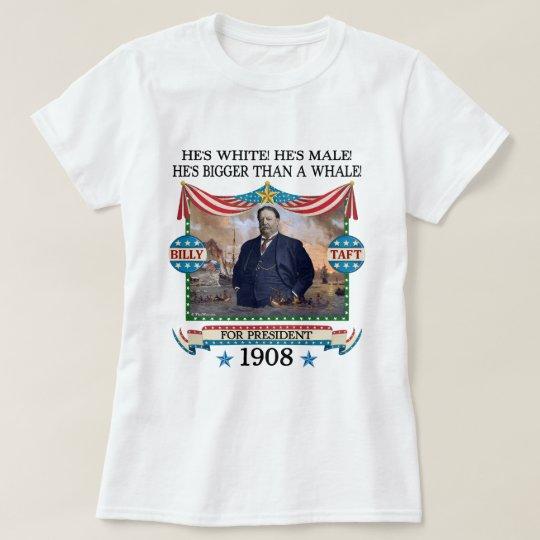 William Howard Taft 1908 Campaign Ladies Light T-Shirt