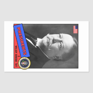 William Howard Taft Baseball Card Rectangular Sticker