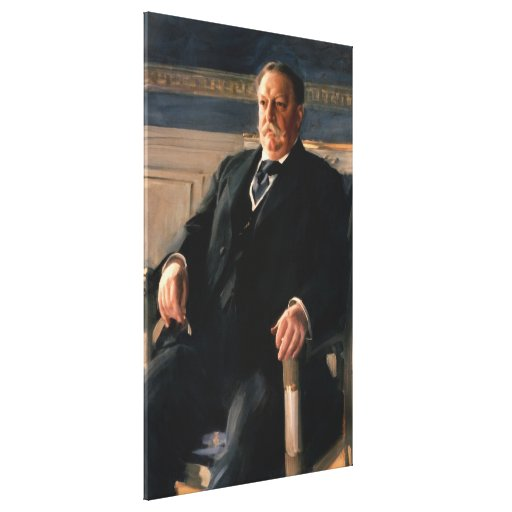 WILLIAM HOWARD TAFT Portrait by Anders L. Zorn Canvas Print