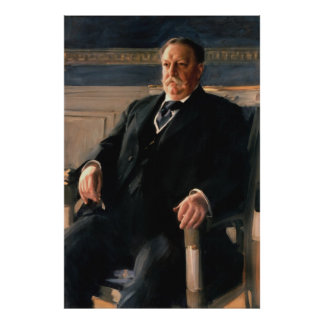 WILLIAM HOWARD TAFT Portrait by Anders L. Zorn Poster